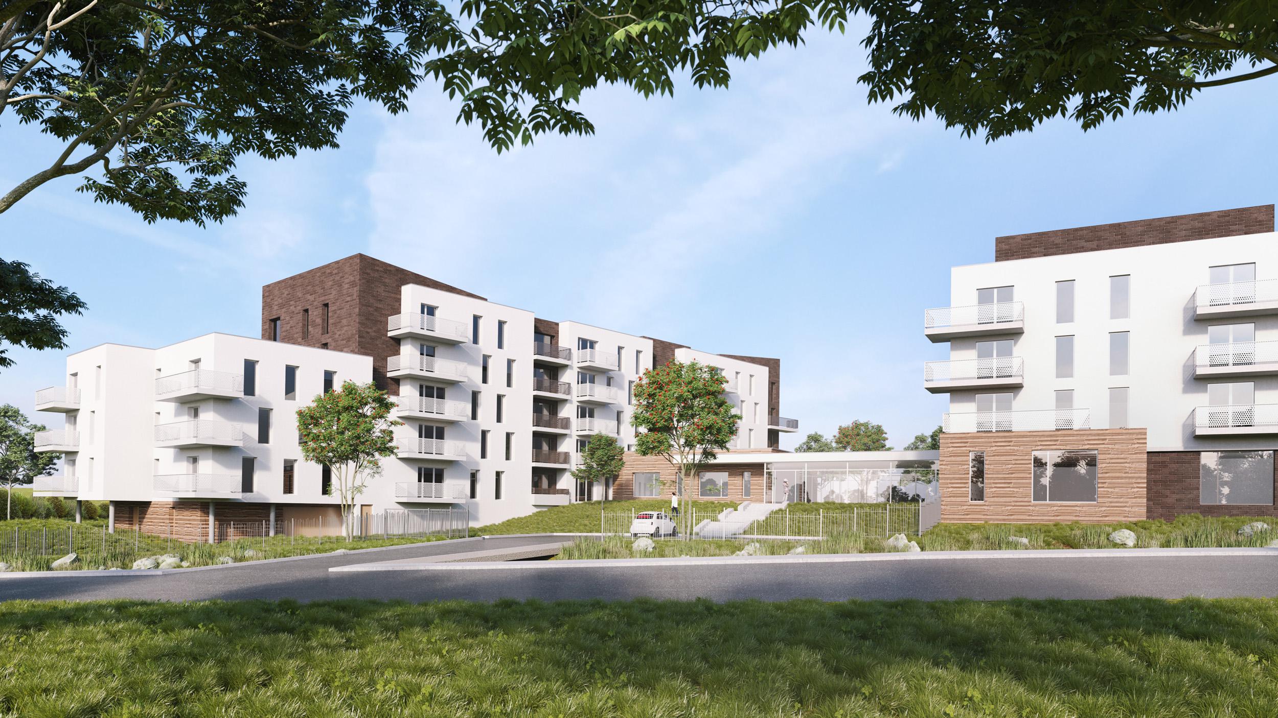 Édifices Architectes, résidence services séniors, Écouflant (49)