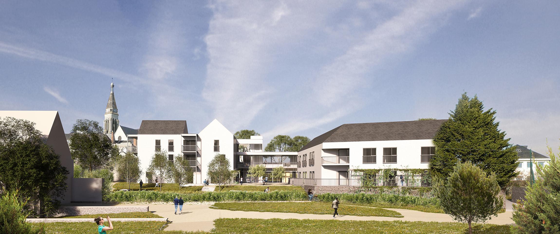 Édifices Architectes, logements Pasteur, Angers (49)